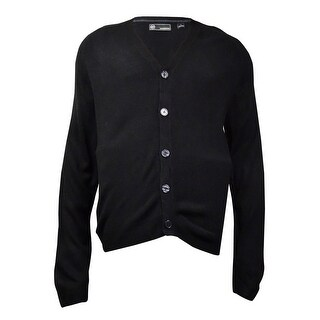 Weatherproof Men's Soft Touch Cardigan Sweater (Black, L) - Black