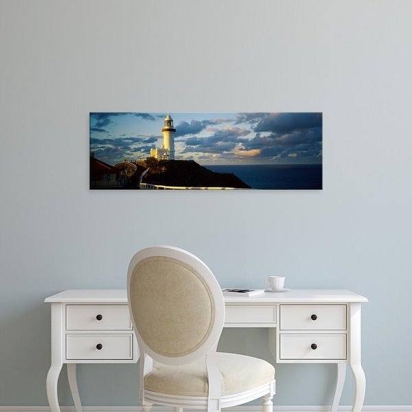 Easy Art Prints Panoramic Images's 'Lighthouse at coast, Broyn Bay Light House, New South Wales, Australia' Canvas Art