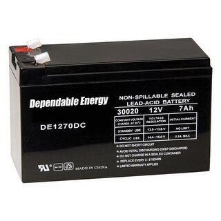Gsm outdoors de30020 american hunter battery rechargeable 12v 7amp tab top