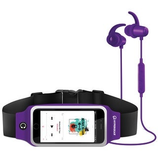 HyperGear ActiveGear Bluetooth Wireless Earphones + Sport Belt Purple (14454)