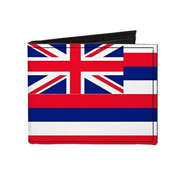 Buckle-Down Canvas Bi-fold Wallet - Hawaii Flag Accessory