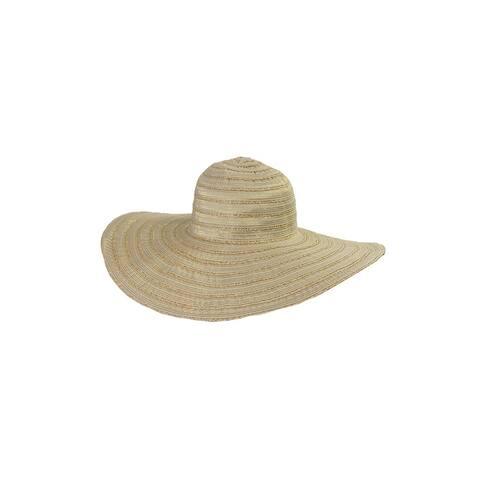 August Hat Tan Lurex Round Basic Floppy Hat OS