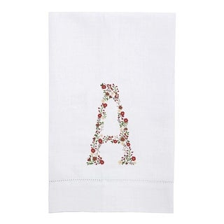 Garden of Letters Bouquet Linen Printed Tea Towels