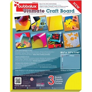 "Bubbalux Ultimate Creative Craft Board 8.5""X11"" 3/Pkg-Yellow"