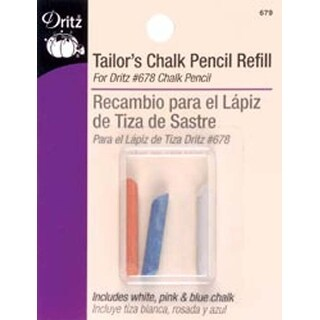 White; Yellow & Blue - Dritz Tailor's Chalk Pencil Refill