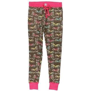 Women's Two Tired Sleep Lounge Pajama Pants - Vintage Bike - Pink