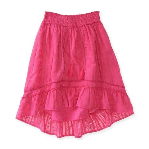 Aeropostale Womens Geometric Ruffled A-Line Skirt