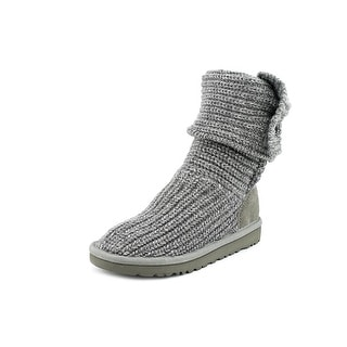 Ugg Australia Cardy Youth Round Toe Canvas Gray Winter Boot