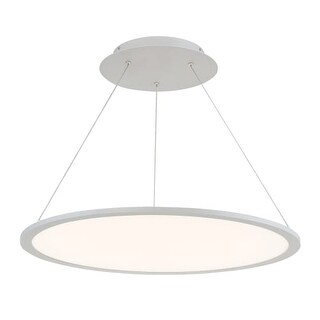 """WAC Lighting PD-31727 Illusion Single Light 27"""" Wide Integrated LED Chandelier"""