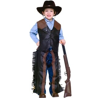 Forum Novelties Dress-Up Cowboy Child Costume (S) - Brown - Small