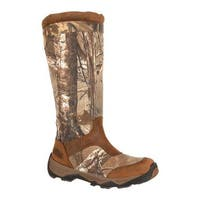 "Rocky Men's 17"" Retraction Snake Boot With Side Zipper RKS0243 Realtree Xtra/Brown/Leather/Cordura"
