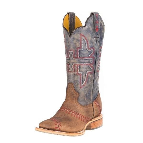 Tin Haul Western Boots Mens Baseball Square Tan