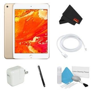 Apple 128GB iPad mini 4 (Wi-Fi Only, Gold) Bundle