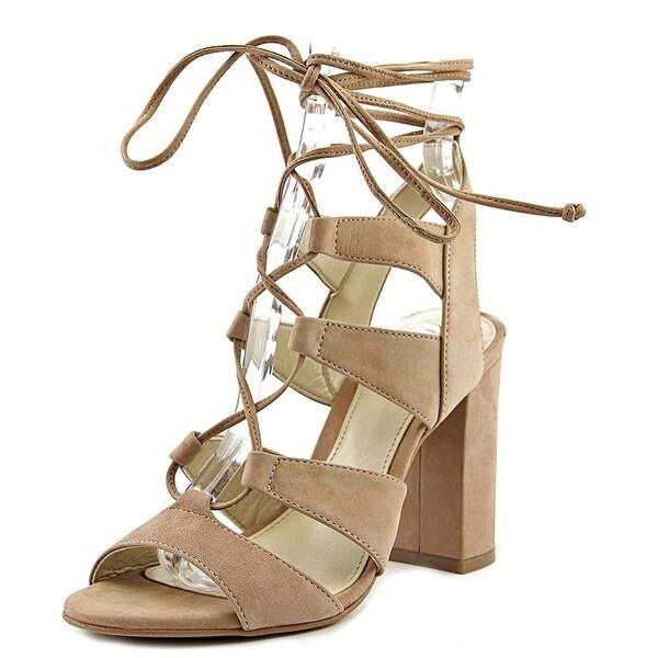 Vince Camuto Womens winola Leather Open Toe Ankle Wrap Platform Pumps