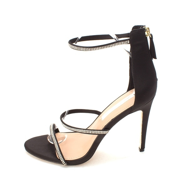David Tutera Womens Zoe Open Toe Casual Ankle Strap Sandals BlackSa Size 80