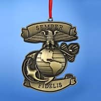 """Pack of 24 U.S. Marine Corps """"Semper Fidelis"""" Miltary Christmas Ornaments 3.75"""""""