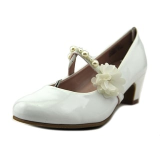 dynasty Lil Zoe Youth Round Toe Synthetic White Mary Janes