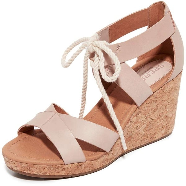 Sperry Womens Dawn Ari Leather Open Toe Casual Platform Sandals