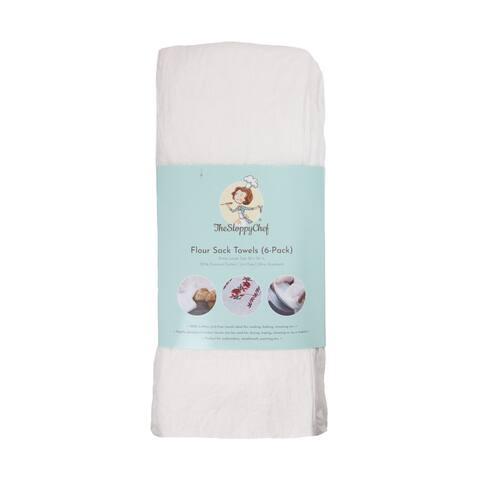 Sloppy Chef Floursack Towels (6-Pk, 100 percent Cotton, 36x36 in) - 36 x 36 in.