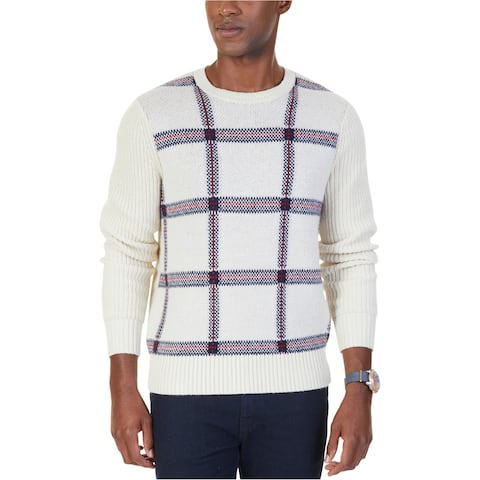 Nautica Mens Double Knit Pullover Sweater