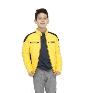 Save The Duck Lightweight Boys Moto Bomber In Yellow
