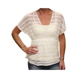 Cowgirl Up Shirt Womens Sheer Deep V-Neck Empire Waist CG30706