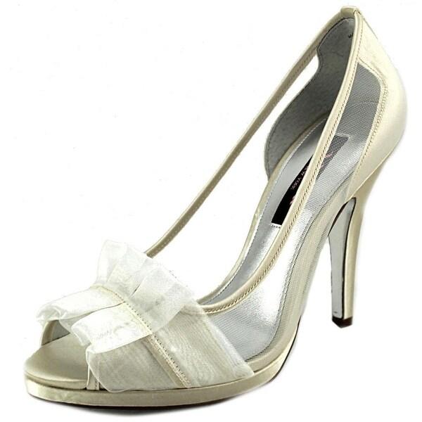 Nina Ellen Peep-Toe Canvas Heels