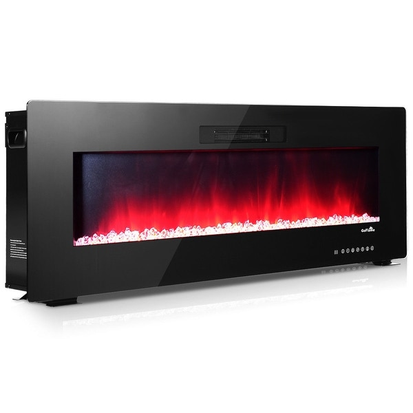 """Wall Mount Electric Fireplace Or Recessed Within Designs: Shop 50"""" Recessed Electric Fireplace, In-wall& Wall"""