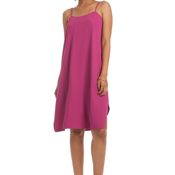 454ce13926f Trina Turk Samba Plum Women Small Slit Slip Shift Dress. Click to Zoom