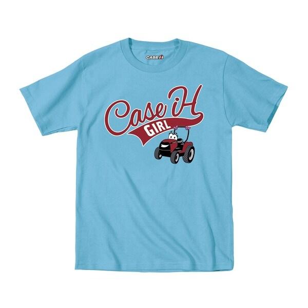 Case Ih Girl Baseball Tail Cartoon Tractor-Toddler T-Shirt