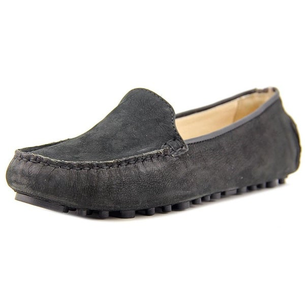 Cole Haan Hanneli Driver Women Moc Toe Leather Black Loafer