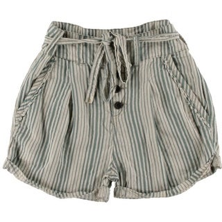 Free People Womens Cotton Striped Shorts