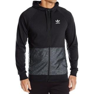 Adidas NEW Black Mens Size Large L Colorblock Full Zip Track Jacket