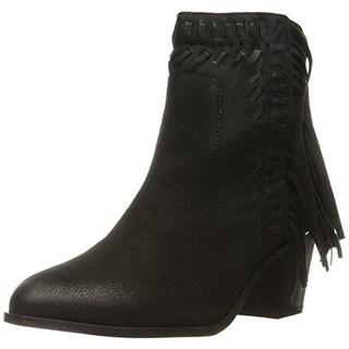 Mia Womens Elina Fringe Heels Ankle Boots