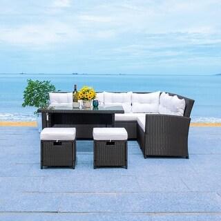 Safavieh Outdoor Miki Wicker Living Patio Set