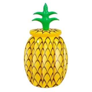 Pack of 6 Inflatable Pineapple Tropical Luau Party Coolers 20""