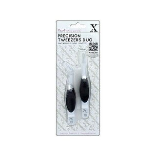 Docrafts Xcut Precision Tweezers 2Pk