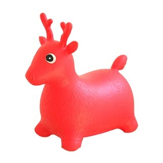 Red Inflatable Playing Reindeer Baby Stool kit for children