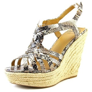Fergalicious Caprinni Open Toe Synthetic Wedge Sandal