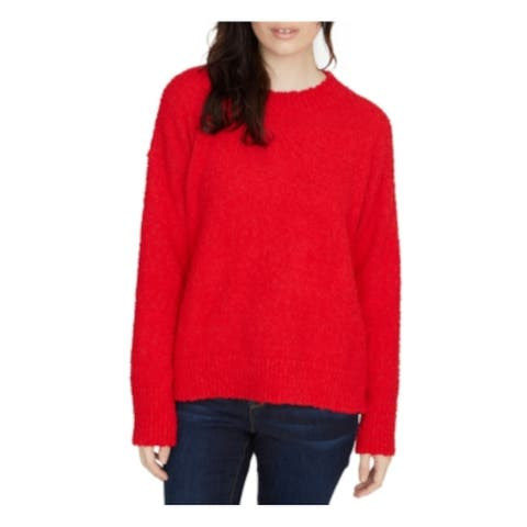SANCTUARY Womens Red Long Sleeve Crew Neck Sweater Size S