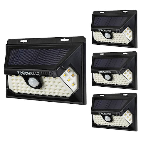 4 Pack 58 LED Solar Motion Security Lights, 4 Modes, 6500K
