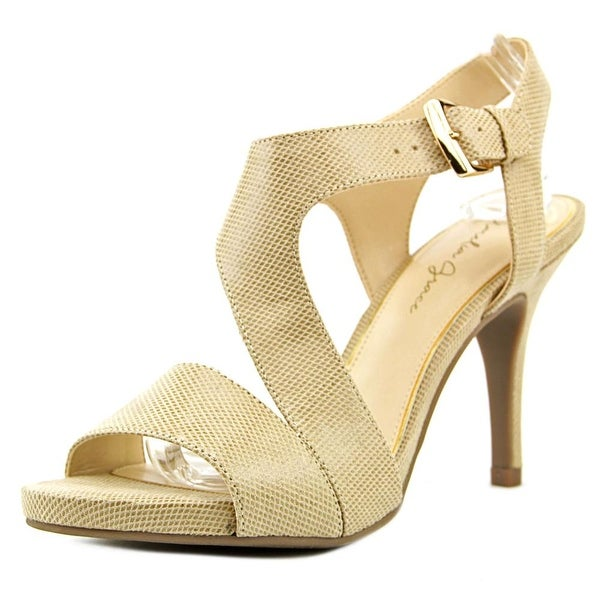 Amelia Grace Petra Women Open Toe Canvas Tan Sandals
