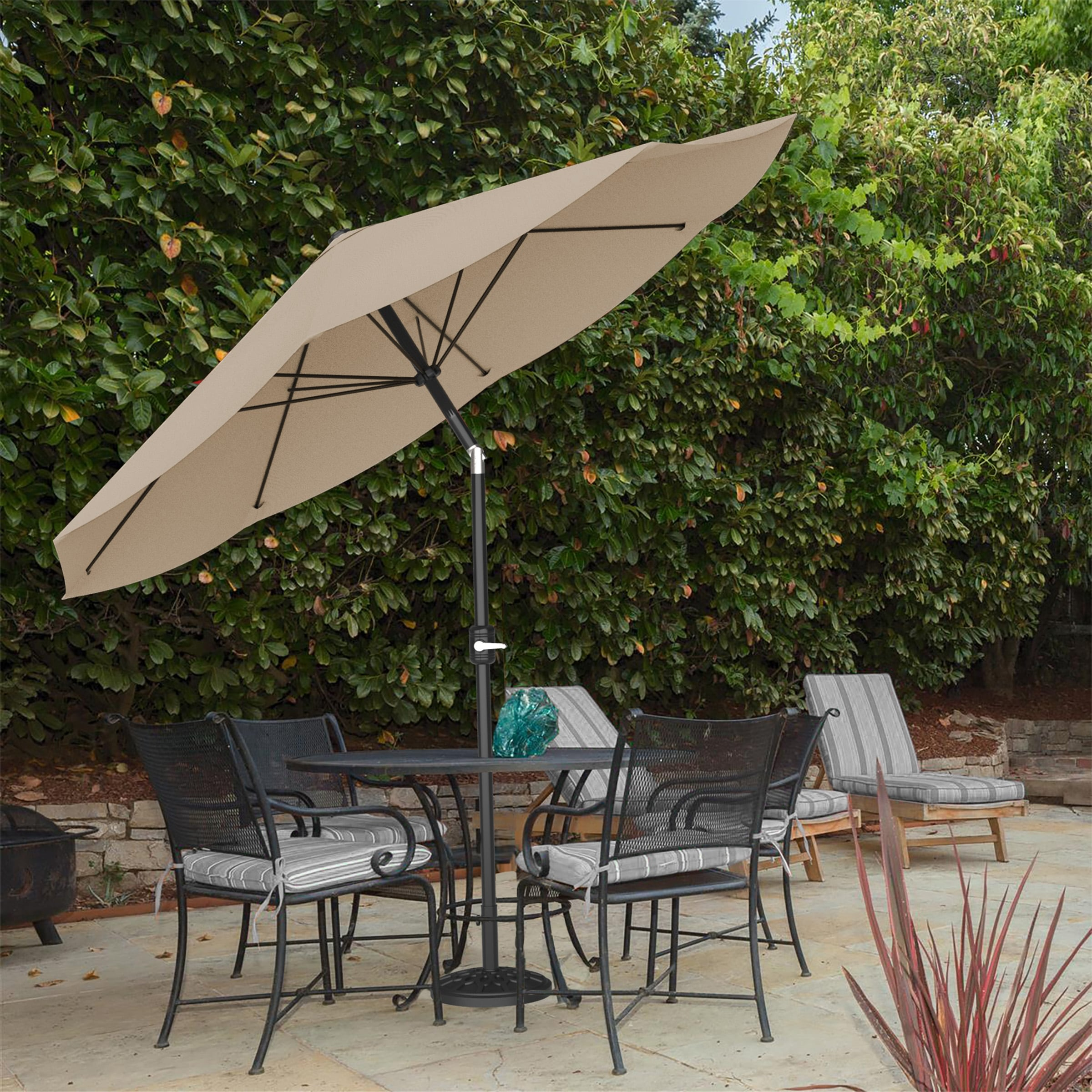 9ft Patio Umbrella with Auto Tilt by Pure Garden, Base Not Included