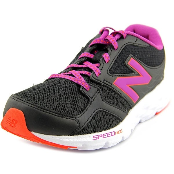 New Balance W490 Women D Round Toe Synthetic Black Running Shoe