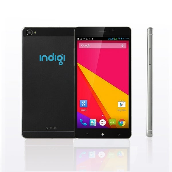 "Indigi® 3G Factory Unlocked 6.0"" SmartPhone Android 5.1 Lollipop w/ WiFi + Bluetooth Sync + Google Play Store - Black"