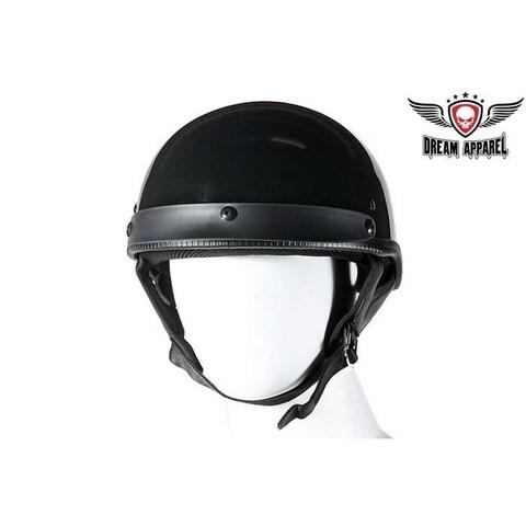 DOT Approved Shiny Black Motorcycle Helmet - Size - L
