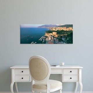 Easy Art Prints Panoramic Images's 'High angle view of town at the coast, Sorrento, Naples, Campania, Italy' Canvas Art