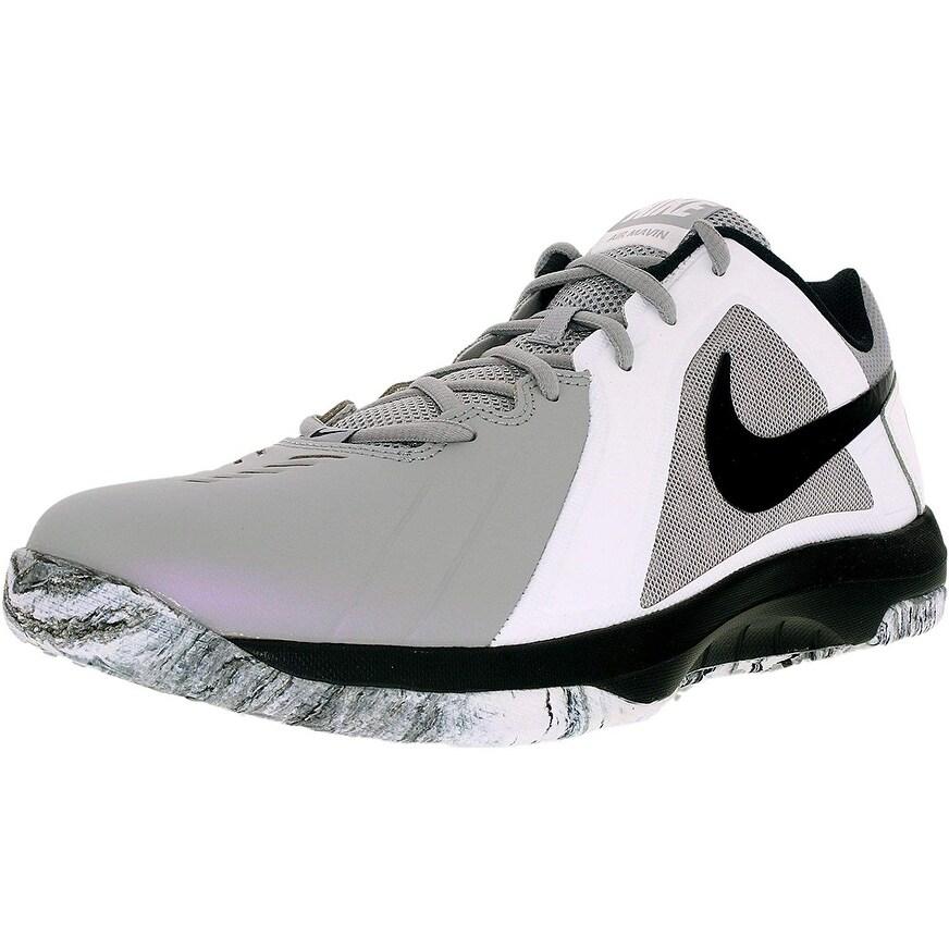 Nike Men Air Maven Low Basketball Shoe Wolf Grey/Black/Pure Platinum Size  11 M Us