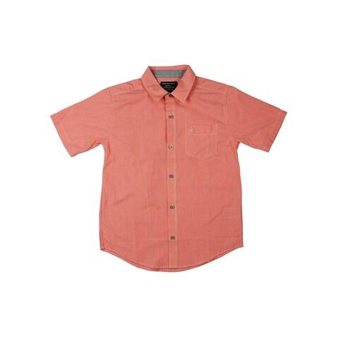 Calvin Klein Jeans Boys Button-Down Shirt Checkered - M