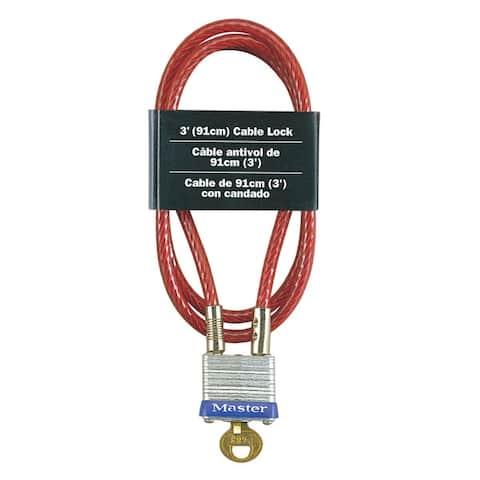 "Master Lock 719D Pin Tumbler Cable Lock, 36"" x 1-1/8"""